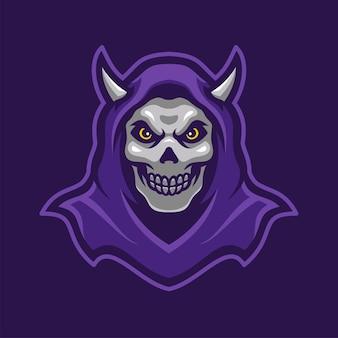 Der old man maskottchen e-sport-logo-charakter
