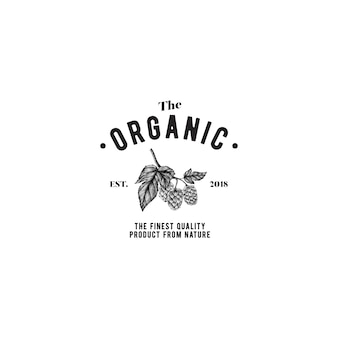 Der organische logo-design-vektor