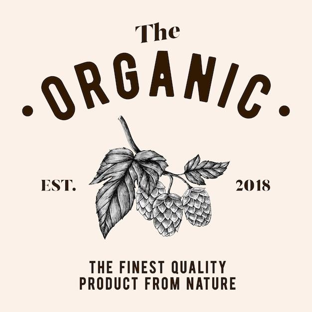Der organische logodesignvektor