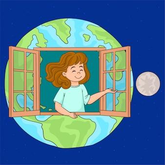 Der planet ist unser zuhause