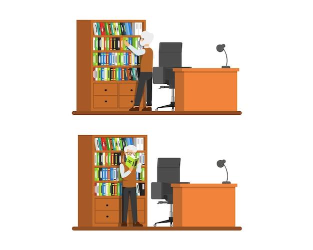 Der professor auf der suche nach literatur
