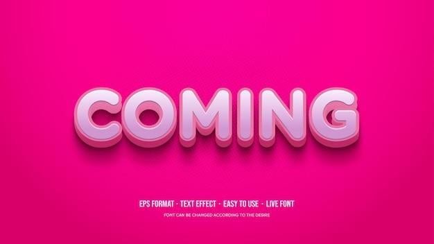 Der rosa 3d-texteffekt sticht heraus