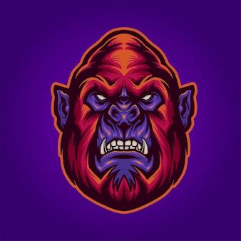 Der rote gorilla