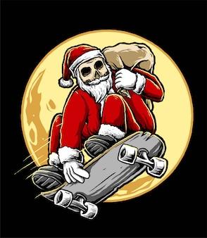 Der schlittschuhläufer santa