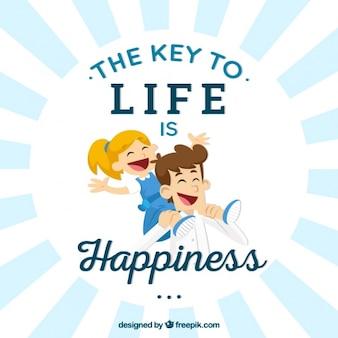 Der schlüssel zum leben ist glück