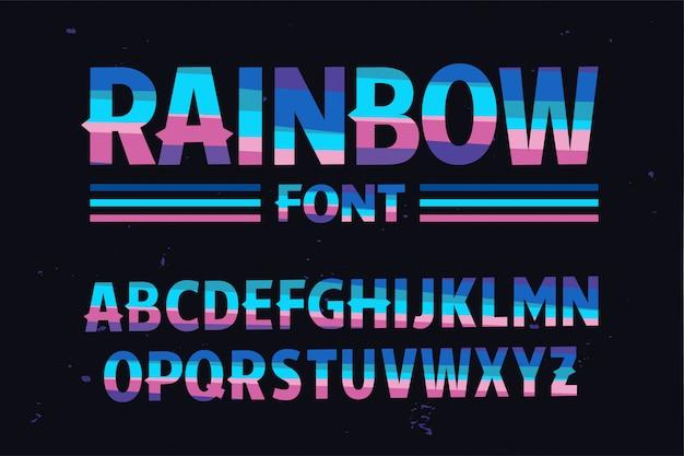 Der stilisierten bunten schrift regenbogen