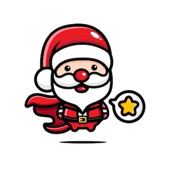 Der süße weihnachtsmann ist ein superheld
