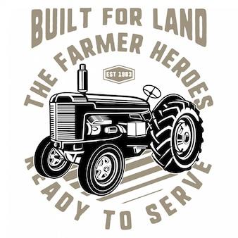 Der tracktor für die landwirtschaft