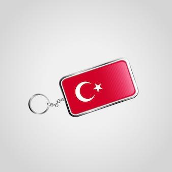 Der türkei-flagge keychain designvektor