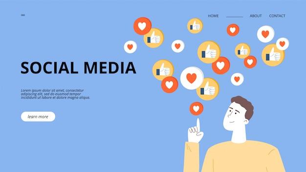 Der typ ist influencer oder smm-manager, bewirbt einen blog in sozialen netzwerken und erhält gutes feedback von der zielgruppe.