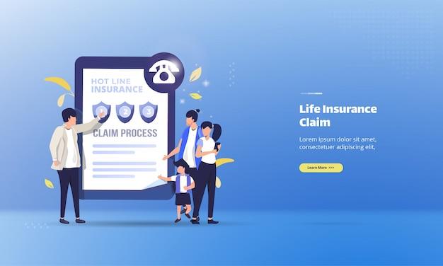 Der versicherungsvertreter erklärt, wie sie eine lebensversicherung beantragen können