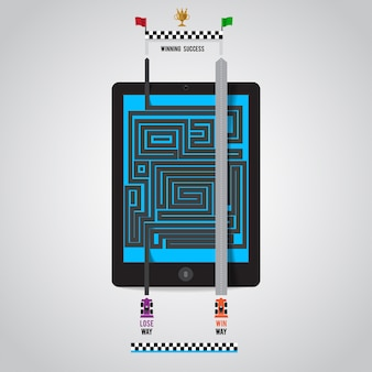 Der weg zum erfolg in online-marketing-geräten wie smartphone-tablet-internet