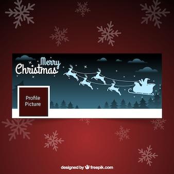 Der weihnachtsmann kommt! facebook abdeckung