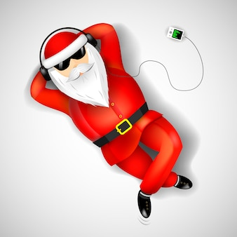 Der weihnachtsmann liegt auf dem boden