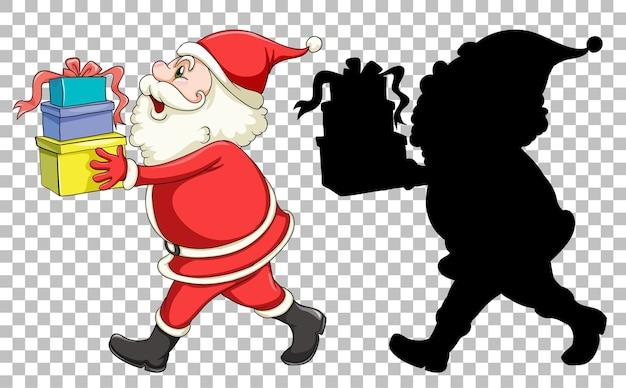 Der weihnachtsmann übergibt das geschenk