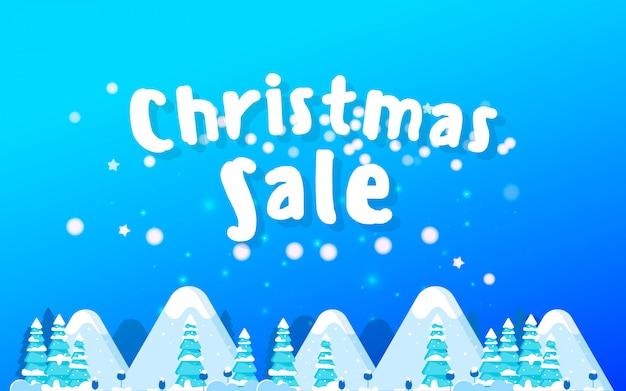 Der weihnachtsverkauf. werbeplakat für den laden.