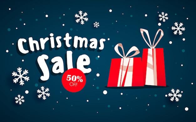 Der weihnachtsverkauf.