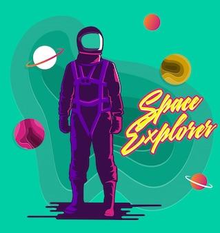 Der weltraumforscher-astronaut