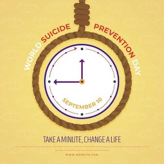 Der welttag der selbstmordprävention dauert eine minute