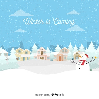 Der winter steht vor dem hintergrund