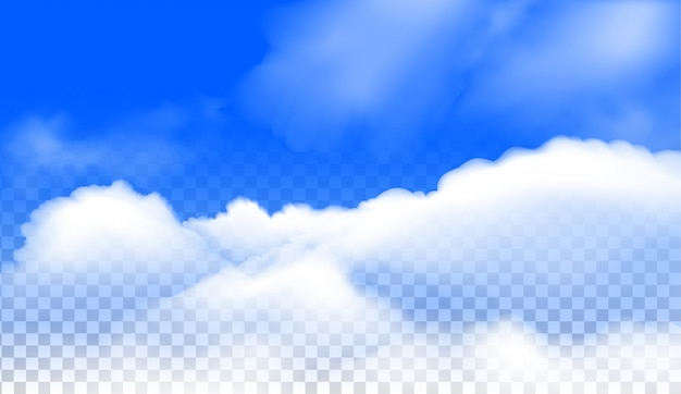Der wolken realistische vektor