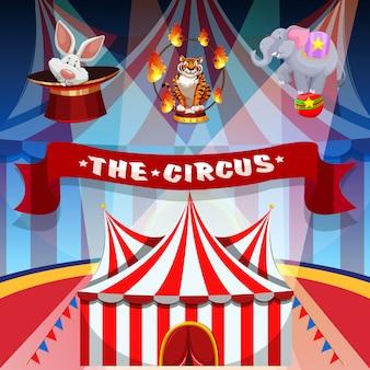 Der zirkus mit tieren