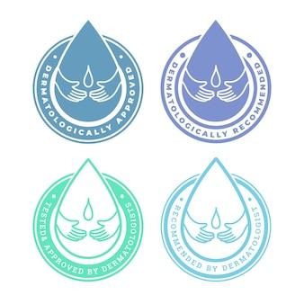 Dermatologisch getestete business-logo-vorlage
