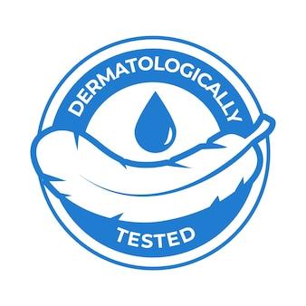 Dermatologisch getestetes logo