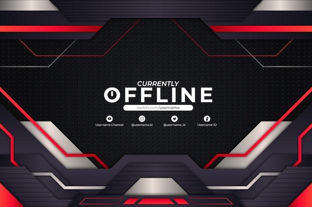 Derzeit offline background red style