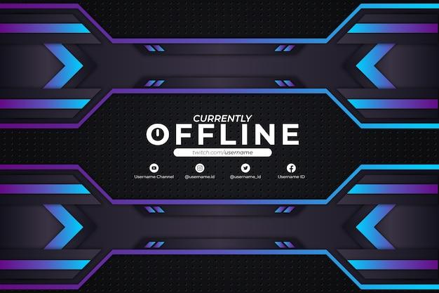 Derzeit offline hintergrund blue style