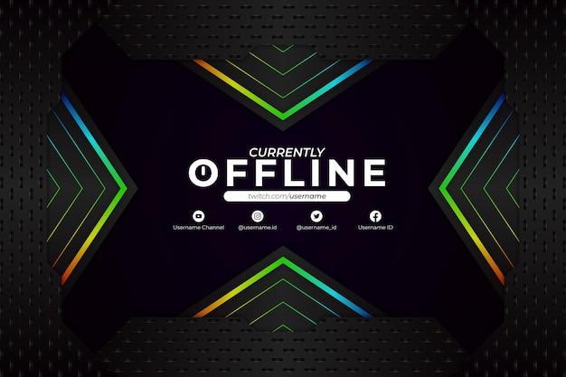 Derzeit offline-hintergrund dark rgb style