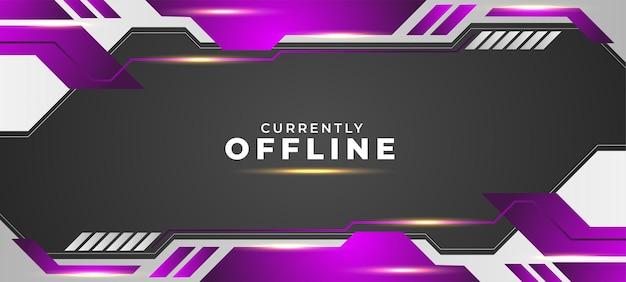 Derzeit offline hintergrund mit lila und weißen stil