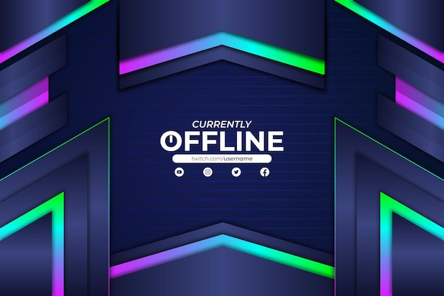 Derzeit offline-hintergrund rgb-stil