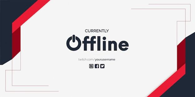 Derzeit offline twitch banner hintergrund vektor vorlage