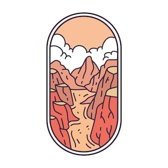 Desert river monoline abzeichen