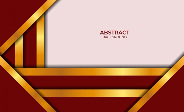 Design abstract rot und gold