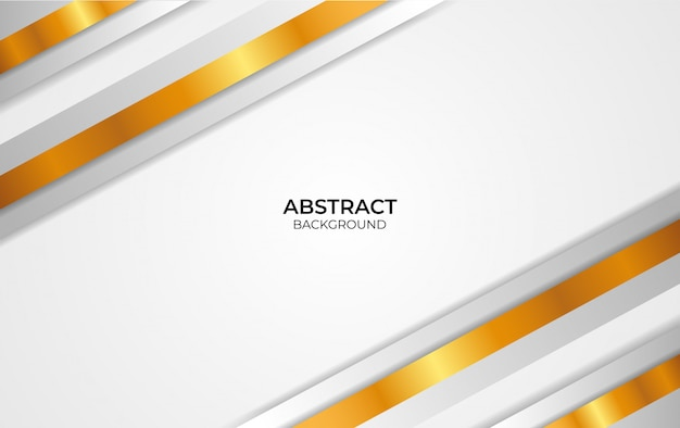 Design abstract weiß und gold hintergrund