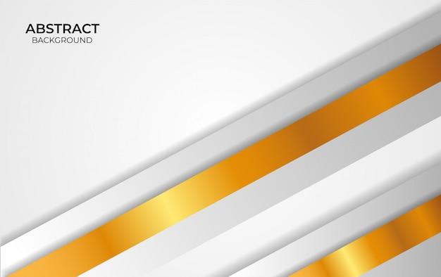 Design abstrakter hintergrund weiß und gold