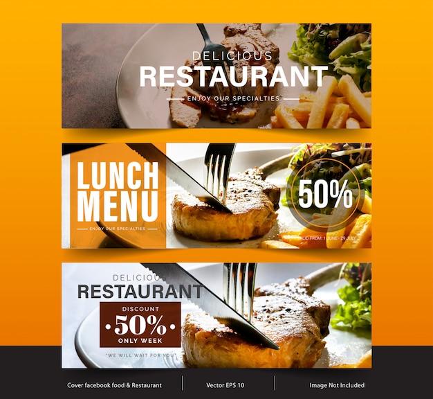 Design banner für soziale netzwerke, template facebook cover für werbung