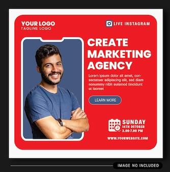 Design banner live instagram digitalagentur 2