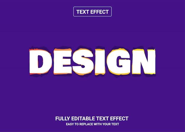 Design bearbeitbarer textstileffekt