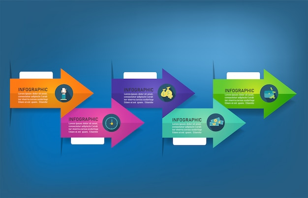 Design business vorlage optionen infographik diagrammelement.
