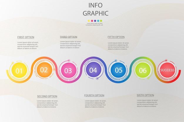 Design circle business-vorlage