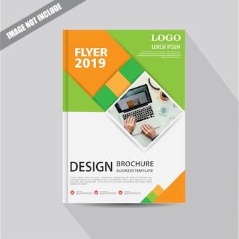Design cover flyer oder broschüre mit geometrischer form