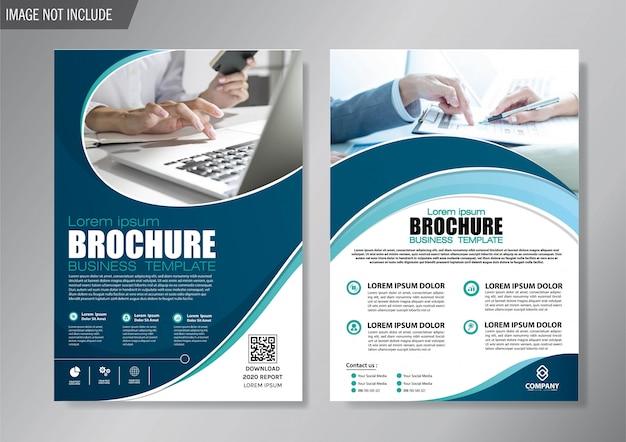Design cover flyer und broschüre business template für den geschäftsbericht