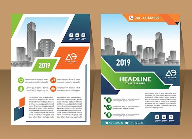 Design cover poster a4 katalog buch broschüre flyer layout jahresbericht business-vorlage