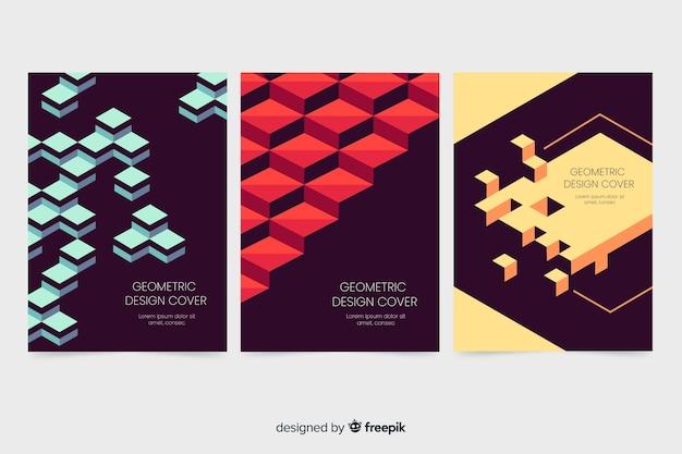 Design cover-vorlagen mit geometrischen formen