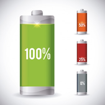 Design der batterieenergie.
