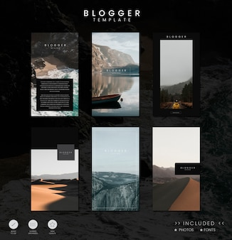 Design der blog-feed-vorlage