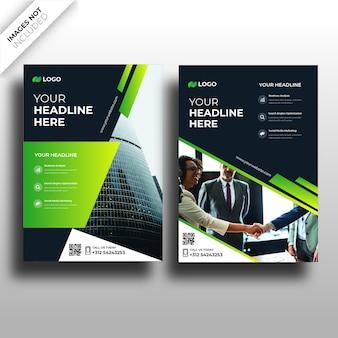 Design der broschürenabdeckung